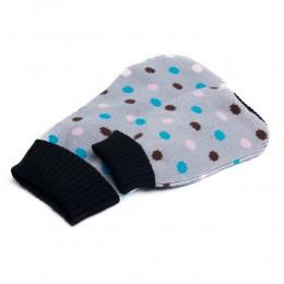 Sweterek ubranko dla psa na zimę SZARY W KROPECZKI