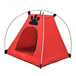 Czerwony namiot domek legowisko dla małego psa kota