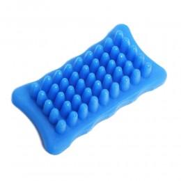 Niebieska szczotka do wyczesywania sierści dla psa krótkowłosego