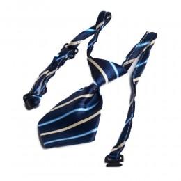 Regulowany krawat dla psa kota na boże narodzenie granatowy w paski
