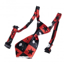 Regulowany krawat dla psa kota Boże Narodzenie urodziny czaszki gwiazdki