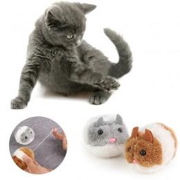 Pluszowa zabawka dla kota wibrująca mysz myszka chomik