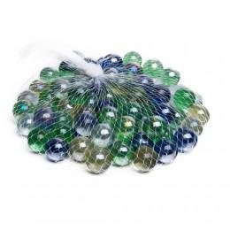 Kolorowe kulki szklane kamyczki dekoracyjne do akwarium