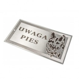 Tabliczka UWAGA PIES / tabliczka pies na bramkę bramę wjazdową