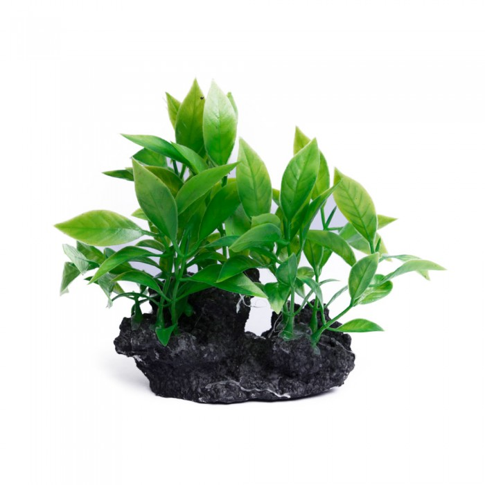 Dekoracje do akwarium sztuczna roślina akwariowa na korzeniu