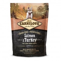 Sucha karma Carnilove Salmon & Turkey for Large Breed Puppy 1,5 kg