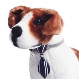 Obroża dla psa kota z krawatem i dzwoneczkiem niebieska