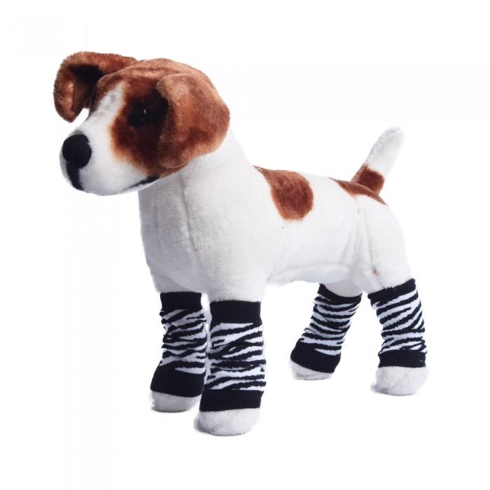 Ocieplacze getry dla psa kota zwierzaka panterka 4 sztuki rozm XL