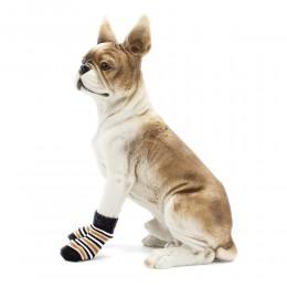 Antypoślizgowe skarpety skarpetki dla psa kota rozmiar M / 4 sztuki
