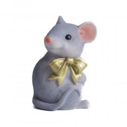 Figurka mysz z kokardką / figurka myszki na prezent urodziny