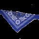 Niebieska obroża z bandamką dla psa dł. 50 cm