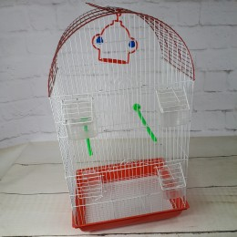 Czerwona duża klatka dla ptaków / klatka dla kanarka papugi nimfy