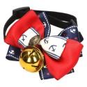 Marynarska muszka dla psa kota z dzwoneczkiem