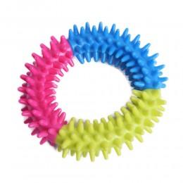 Zabawka / gryzak dla psa kolorowe kółko z wypustkami