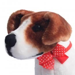 Czerwona kokarda muszka mucha dla psa Yorka Shih Tzu kota na gumce