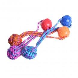Zabawka dla psa piłka na sznurku do zabawy aportowania