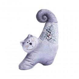 Figurka kota kot przeciągający się z kawałkami szkła na prezent