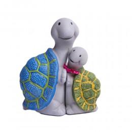Figurki dekoracyjne para żółwi / figurka żółw mały i duży