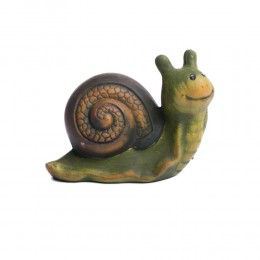 Figurka dekoracyjna ślimak ślimaczek z domkiem do domu lub ogrodu