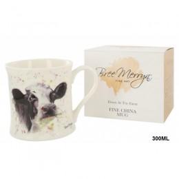 Kubek ceramiczny na prezent krowa czarno biała / wiejski kubek
