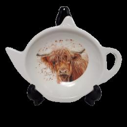 Skapek do herbaty talerzyk na cytrynę podkładka okapek KROWA Highland