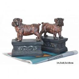 Podpórka do książek pies buldog angielski / komplet podpórek 2 szt.