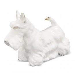 Figurka pies biały terier szkocki / figurka psa na upominek prezent