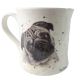 Kubek ceramiczny na prezent MOPS / kubek z mopsem 300 ml pies mopsik