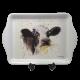 Mini tacka taca śniadaniowa z ludowym motywem KROWA / taca z krową