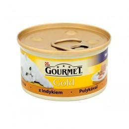 Mokra karma dla kota Gourmet Gold pasztet z indykiem 85g
