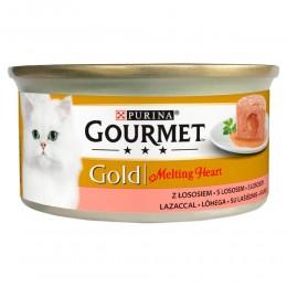 Mokra karma dla kota Gourmet Gold Melting Heart z łososiem 85g