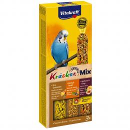 Vitakraft Kracker Trio-Mix kolby dla papużek falistych 3 sztuki