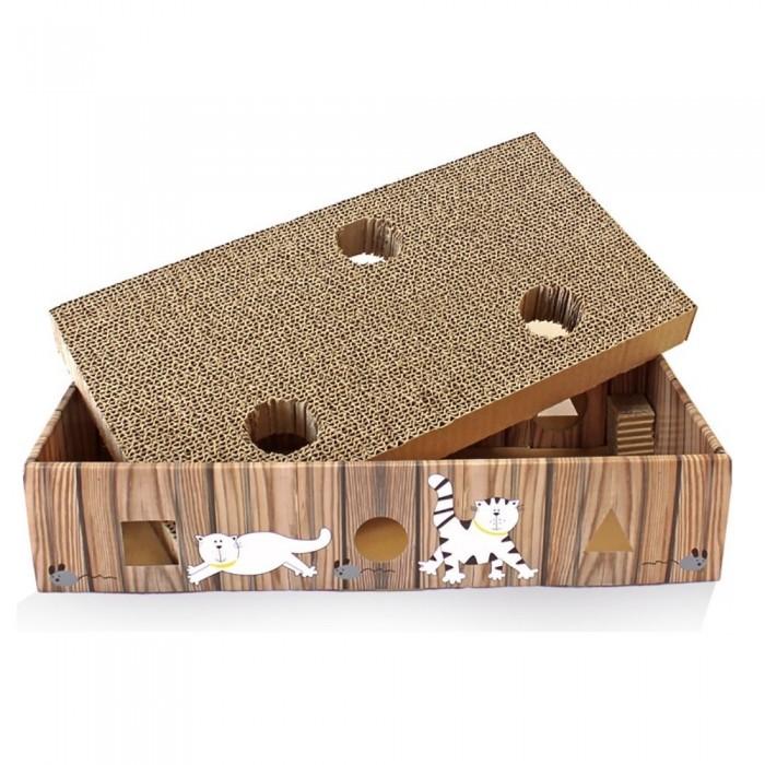 Ekologiczny drapak dla kota z zabawką w środku + KOCIMIĘTKA