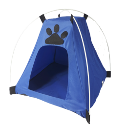 Niebieski namiot domek legowisko dla małego psa kota
