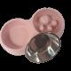 Zestaw różowa miska spowalniająca jedzenie dla psa + miska na wodę