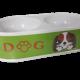 DOG podwójna owalna plastikowa miska dla psa kota poj. 2x300 ml