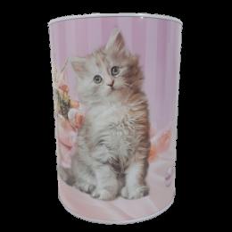 Duża skarbonka puszka metalowa z kotem MAINE COON