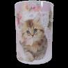Duża skarbonka puszka metalowa z kotem / puszka skarbonka koty