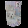 Duża skarbonka puszka metalowa z psami / puszka skarbonka psy