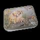 Prostokątna puszka metalowa z wieczkiem pieski / pudełko pojemnik psy