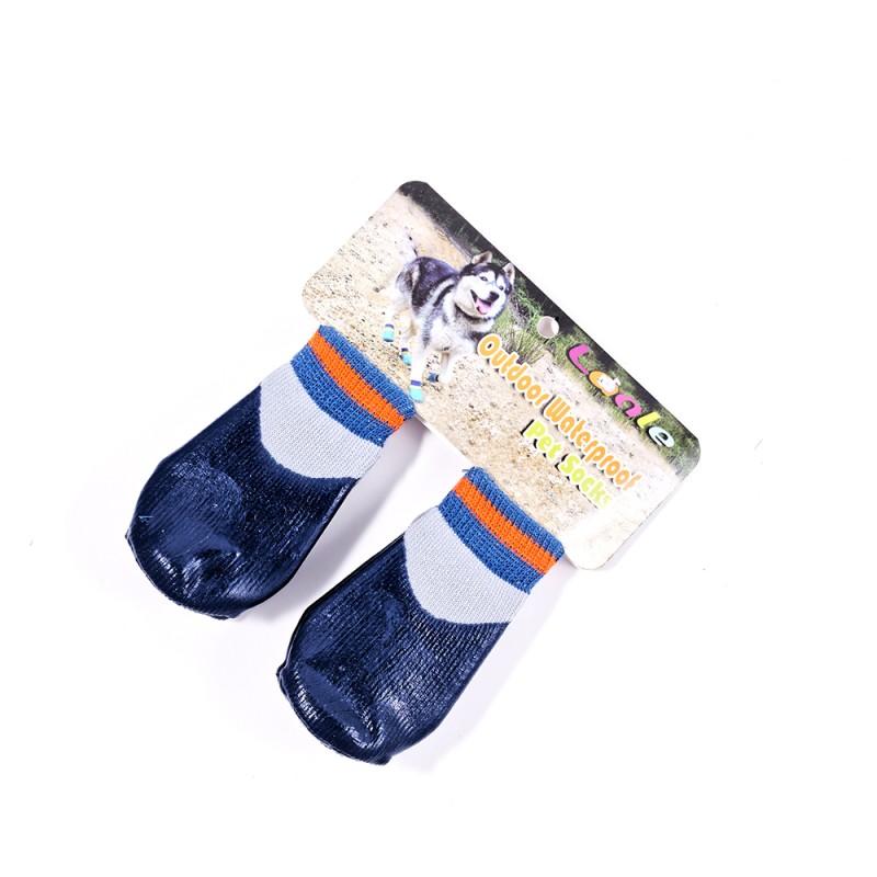 Bardzo dobra Granatowe wodoodporne skarpetki buty dla psa kota w niskiej cenie RV07