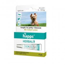 HAPPS krople na pchły kleszcze dla małych psów do 10kg