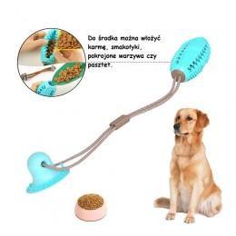 INTERAKTYWNA piłka psa na przysmaki przyssawka 3w1 SNACK RUGBY