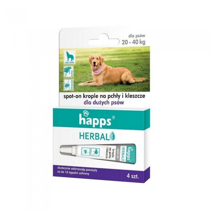 HAPPS Herbal krople na pchły i kleszcze dla dużych psów 20 - 40kg