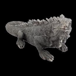Rzeźba figurka Iguana Jaszczurka srebrna glamour 40cm