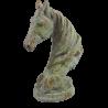 Głowa konia figurka rzeźba dekoracyjna dla miłośnika jeździectwa