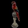 Figurka papuga 32cm / papuga figurka ceramiczna na podstawce