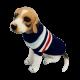 Golf sweterek ubranko dla psa na zimę granatowe w paseczki
