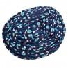 Legowisko dla psa kota owalne niebieskie w kosteczki 10 rozmiarów