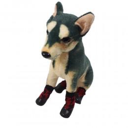 Ciepłe skarpety buty dla psa na zime z gumową podeszwą CZERWONE